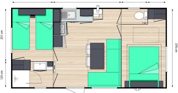 plan bungalow célivacances royan